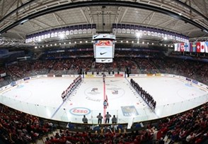KAMLOOPS, BC - APRIL 4: USA and Canada get set to battle during gold medal game action at the 2016 IIHF Ice Hockey Women's World Championship. (Photo by Andre Ringuette/HHOF-IIHF Images)