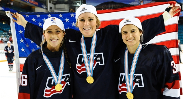 U.S. women on top